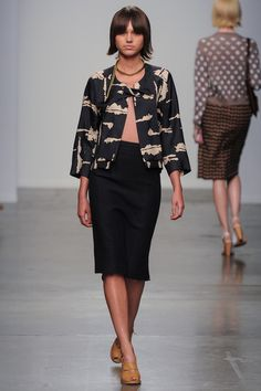 conservatively modern twist on 60's wardrobe A Détacher Spring 2014 Ready-to-Wear Collection Slideshow on Style.com