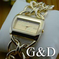 G&D Brand Ladies Gold Dress Bracelet Watch Stylish Women Ladies Favorite Watch