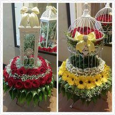 10 Bekas Bunga Rampai Ideas Wedding Gifts Gift Tray Malay Wedding