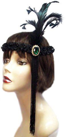 Emerald Jewel Roaring 20's Flapper Gatsby by JenkittysCloset, $20.00