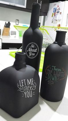 Botellas recicladas Downlights, Vodka Bottle, Drinks, Diy, Recycling, Recycled Bottles, Wine Bottles, Blue Prints, Manualidades