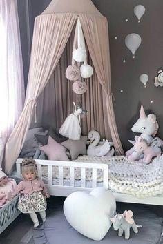 Star pillow to buy on Etsy - HappySpacesWorkshop - scandinavian kids room decor, pastel girls room ideas, pink and grey girls room, nursery decor, kid Pastel Girls Room, Grey Girls Rooms, Little Girl Rooms, Pink Room, Baby Bedroom, Nursery Room, Kids Bedroom, Nursery Decor, Trendy Bedroom