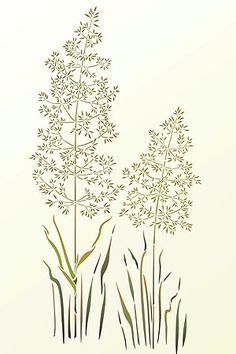 Intricate, detailedgrass stencil Large 1 sheet stencil The intricately detailed Large WildMeadow Grass Stencil is inspired bysoftwild meadow grasses with their soft full plumage made of tiny seeds onfragile, thin stems. Thisdelicate stencil will provide a sophisticated and softdecorative touchfor both walls and fabrics. The Large WildMeadow Grass Stencil is a single sheet one layer stencil with two wild meadow grass motifs that can be used together or separately…