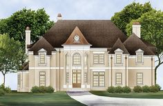 ePlans Chateau House Plan – Grand Luxury Chateau – 3708 Square Feet and 4 Bedrooms from ePlans – House Plan Code HWEPL76645