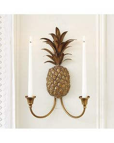 Pineapple Candle Wall Sconce