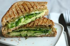 Avocado, Spinach and Pesto Grilled Cheese Sandwich