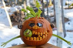 """Hungry Pumpkin Monster"" by Pam C., Anchorage, AK"