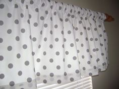 Grey Polka Dots Valance Grey/White Polka Dots by CleusaSordiDecor