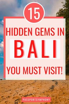 This contains: When I think of Indonesia and tourism, the first thing that comes to my mind is Bali. With its endless choice of exciting attractions, it's no wonder that Bali is one of the most visited islands in the world and a place that people keep coming back to for more. However, Bali has a lot more to offer than just the mainstream tourist locations. Fortunately, there are still secret spots in Bali where you can get away from the tourist hordes and get a taste of traditional Balinese…