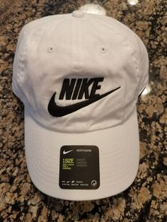 Nike Mens Nike Futura Washed H86 Adjustable Hat White Black 626305-101  NIKE c1edbb854f46