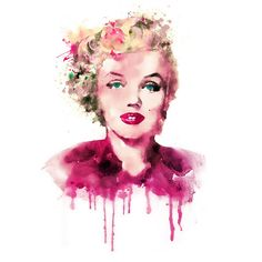 Marilyn Monroe Dibujo, Marilyn Monroe Drawing, Marilyn Monroe Tattoo, Marilyn Monroe Poster, Marilyn Monroe Photos, Watercolor Portraits, Watercolor Print, Watercolor Paintings, Marilyn Monroe Wallpaper