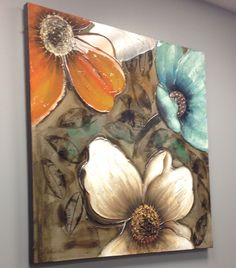 Art Abstract Flowers, Texture Painting, Hobbies And Crafts, Beautiful Landscapes, Decoupage, Paintings, Wall Art, Canvas, Drawings