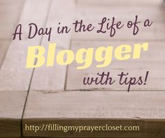 A day in the life of a blogger with blogger tips and tricks, blogging ideas and social media tips and tricks based on how I work on any given day! by @fillpraycloset