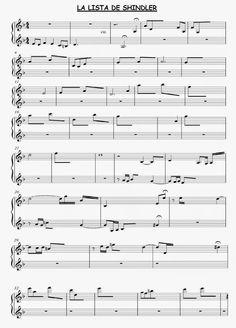 """El Lenguaje Musical de Fátima: PARTITURA PARA COMPLETAR: """"LA LISTA DE SHINDLER"""""""