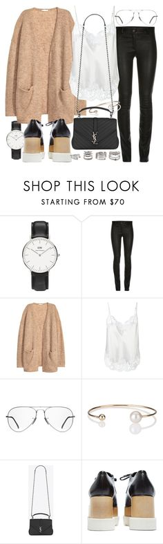 """""""Untitled #20560"""" by florencia95 ❤ liked on Polyvore featuring Daniel Wellington, ElleSD, H&M, Givenchy, Ray-Ban, Letters By Zoe, Yves Saint Laurent, STELLA McCARTNEY and Forever 21"""