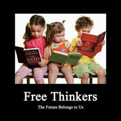 Children reading books by Richard Dawkins