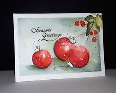 Penny Black Be Merry 2017 stempel Adornments Boxed Christmas Cards, Christmas Card Crafts, Homemade Christmas Cards, Xmas Cards, Christmas Art, Christmas Greetings, Handmade Christmas, Holiday Cards, Christmas Cookies