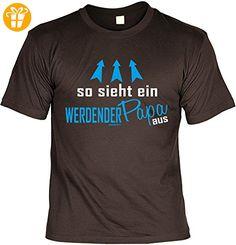 T-Shirt für den besten Papa: So sieht ein werdender Papa aus - Geschenk für besondere Anlässe, Vatertag, Geburtstag - braun (*Partner-Link)