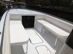 The Boating Forum - Check out my new folding seats! - My boat was lacking seating so I had some custom folding seats made. Sport Fishing, Going Fishing, Fishing Tips, Whitewater Kayaking, Canoeing, Center Console Fishing Boats, Boat Restoration, Folding Seat, Boat Seats
