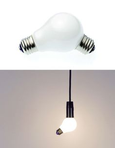 This lamp by HHStyle looks like a bulb that isn't actually screwed in.