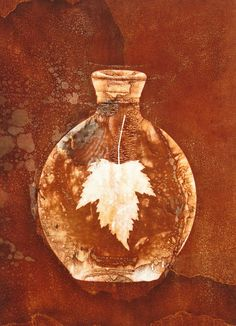 Bottle Still Life Photogram Mordancage Print by John Fobes: copyrighted all rights reserved