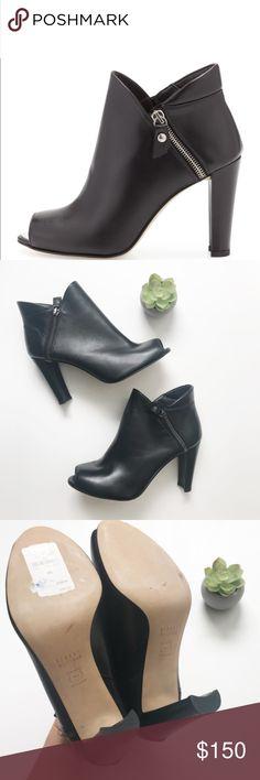 857d4047aaa0 Stuart Weitzman Peep Toe Black Ankle Boot 9 These beautiful Stuart Weitzman