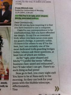 tina fey you're the best.