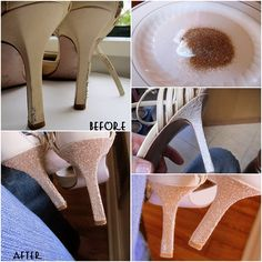 How to Fix Ruined Heels with Glitters | www.FabArtDIY.com LIKE Us on Facebook ==> https://www.facebook.com/FabArtDIY