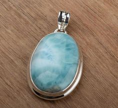 Other – Larimar Pendant, 925 Sterling Silver Pendant – a unique product by Midas-Jewelry on DaWanda