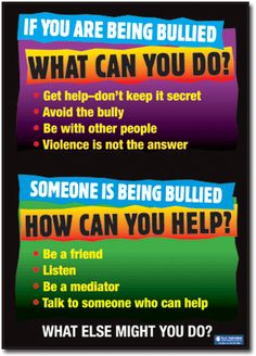 What to do if you or someone else is being bullied - Poster