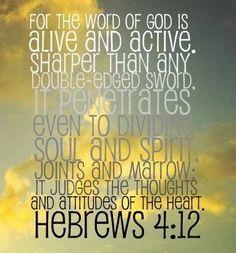 hebrews 4:12 | Hebreos 4. Palabra viva y poderosa | Tania Machuca