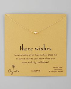 Three Wishes Pendant Necklace by Dogeared at Neiman Marcus.