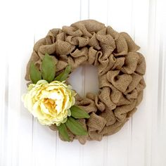 Summer Wreath, Peony Wreath, Burlap Wreath, Fall Wreath, Front Door Wreath, Floral Wreath, Natural Wreath by JennysWreathBoutique on Etsy https://www.etsy.com/listing/399627583/summer-wreath-peony-wreath-burlap-wreath
