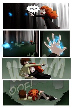 The Wisps lead Merida to her fate: Hiccup.
