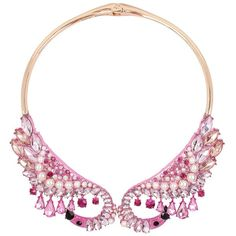 Betsey Johnson Critters Faux Pearl and Crystal Flamingo Collar... (€120) ❤ liked on Polyvore featuring jewelry, necklaces, pink, clasp necklace, imitation jewelry, betsey johnson jewelry, fake jewelry and simulated pearl necklace