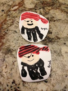 Fun craft for a 4-year-old's Pirate Party! pirate handprints!