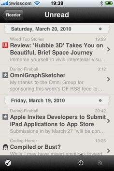 Reeder is the most reliable Google Reader client for iPhone. Quick, easy to use, caching content. And you can easily share on social networks or send content to Instapaper. Tried many, this is definitely the best one for me. On App Store, $2.99.