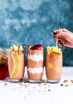 Splendid Smoothie Recipes for a Healthy and Delicious Meal Ideas. Amazing Smoothie Recipes for a Healthy and Delicious Meal Ideas. Pisco Sour, Healthy Snacks, Healthy Recipes, Healthy Habits, Delicious Recipes, Juice Recipes, Drink Recipes, Milk Shakes, Fruit Shakes
