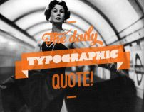 The daily typographic quote