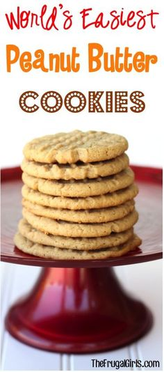 World's Easiest Peanut Butter Cookies!