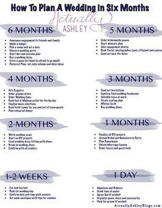 6 Month Wedding Planning Timeline: