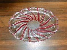"Mikasa Peppermint Red Swirl Dish Oval 9""  | eBay"
