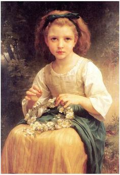 William-Adolphe Bouguereau Child Braiding A Crown Art Print Poster Poster at AllPosters.com