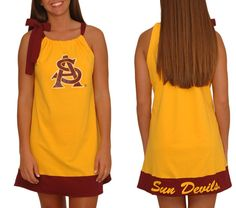 Arizona State Tie Neck Dress! Cute for #gameday! @Arizona State Sun Devils @Arizona State University #ASU #sundevils