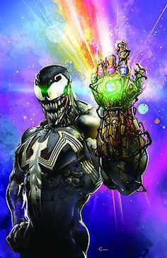 Venom 7 Marvel 2018 Clayton Crain Infinity Gauntlet Trade Variant Dylan Brock for sale online Venom Comics, Marvel Venom, Marvel Comics Art, Marvel Heroes, Comic Kunst, Comic Art, Venom Art, Deadpool Funny, Amazing Spiderman