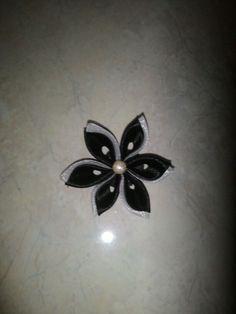 Kanzashi flower brooch Kanzashi Flowers, Flower Brooch, Tattoos, Tatuajes, Tattoo, Tattos, Tattoo Designs