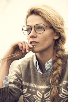 Retro aviators worn as prescription glasses are big for 2014.