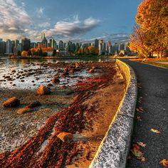 Nothing like a stroll, bike, skate along the Stanley Park seawall. Seawall, Stanley Park, Vancouver, British Columbia, Canada