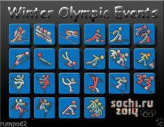 2014 Olympic Poster/Russia Winter Olympic Events/sochi.ru 2014/17x22 inches