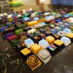 Latest batch of Coz Caps.  #mechanicalkeyboard #artisan #keycaps #cozcap